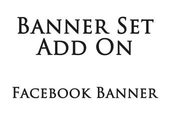 Shop banner set add on facebook banner