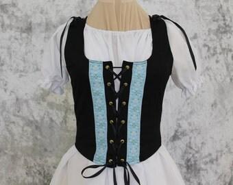 Black Renaissance Costume-Halloween Costume-Medieval Skirt-LARP-Ren Fair-Steampunk-SCA-Adult Costume-Fantasy Skirt-Item #232