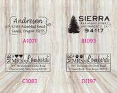 Custom Rectangle Address Stamps