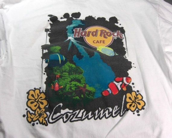 cozumel hard rock cafe t shirt large. Black Bedroom Furniture Sets. Home Design Ideas