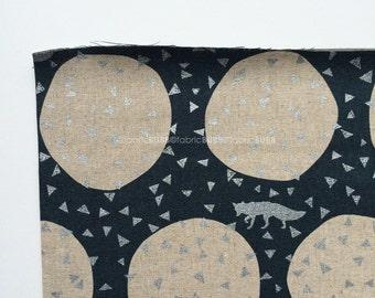 Den in Slate by Echino by Kokka Fabrics, Etsuko Furuya