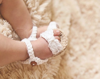 Baby Bow sandals newborn to 12 months choose color