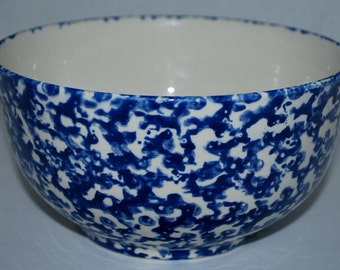 sale Vintage Plymouth pottery bowl spatter ware bowl  signed bowl