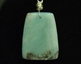 Extra-Large Amazonite Pendant Necklace