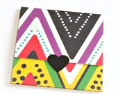 blank mini note cards, patterned chevron, trifold mini cards, envelope style blank note cards, thank you notes, gift enclosures, set of 8