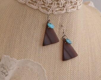 Lavendar & Turquoise  Earrings. FREE SHIPPING