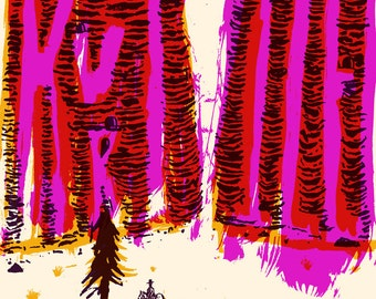 Kurt Vile Cleveland Silk Screened Poster
