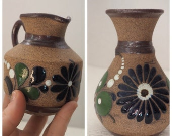 SUMMER SWOON CLEARANCE@! Pair of Vintage Mexican Tonala, Stoneware Pottery