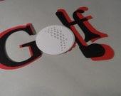 Golf locker decoration ~ embellishments ~ scrapbooking die cuts ~