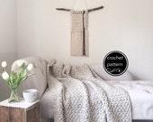 Summer SALE Crochet Pattern Chunky Blanket Throw Afghan Pattern The BIRCH Blanket