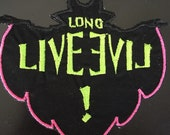 Disney descendants inspired Mal's Long Live Evil Symbol Embroidered Iron on Patch 2 sizes, 3.5x3.5 and 5x5 inches