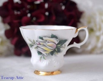 Royal Albert Replacement Teacup Sweetheart Roses Helen , English Bone China Tea Cup Only, Orphan Teacup, ca. 1960-1970