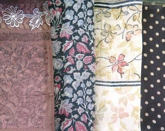Fat Quarters, Silk Fabric, Sari Silk FQ114