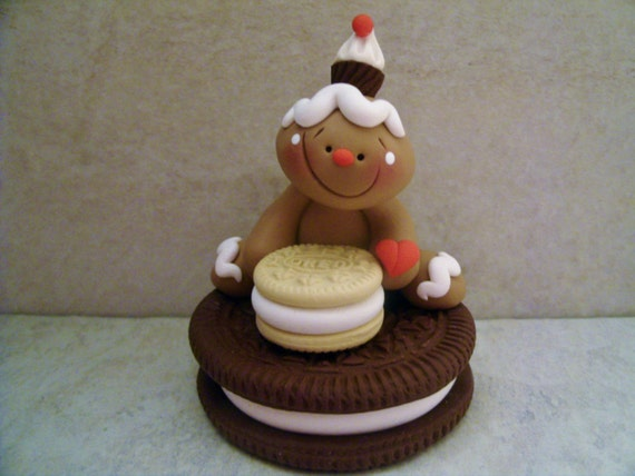Dessert Stack Gingerbread Man Polymer Clay Holiday