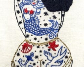 PDF Embroidery PATTERN The SUMMER Tattooed Lady Digital Downloadable