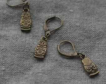 Matryoshka Doll Brass Stitch Marker