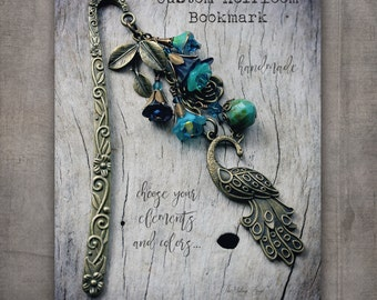 CUSTOM BOOKMARK made to order with the elements and colors you choose, Victorian Bookmark, Heirloom Bookmark