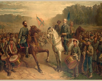 Images of America: The Civil War -  The Last Meeting between General R.E. Lee and General Stonewall Jackson - Fine Art Print Reproduction