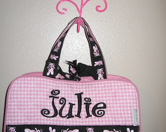 Personalized 3PIECE PINK Ballerina Cosmetic makeup Case