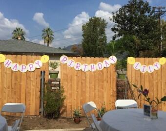 Lemonade Party Birthday Banner