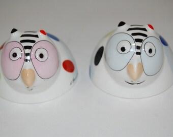 Villeroy and Boch Smarty Owls Salt & Pepper Shaker Set