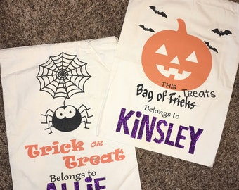Halloween Candy Bags/ Trick or Treat Bags