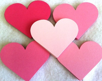 25 Die Cut Paper Hearts.....you Choose Size. Valentine Hearts