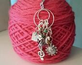Progress Keeper Holder-Project Bag Zipper Pull-Progress Keeper for Knitting/Crochet-Ring Only-Double Hoop Progress Keeper Holder