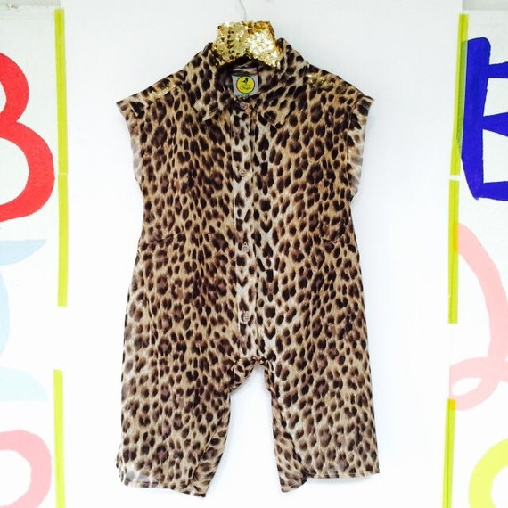 SWEETIE 2-3 Years Chiffon Suit Childrens Onesie Jumpsuit One Piece Jumper Romper Playsuit Upcycled Unisex