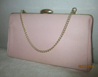 Vintage 1960's Pink Wristbag