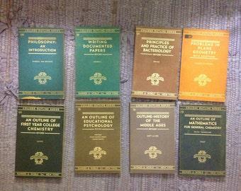 8 Vintage college outline series books
