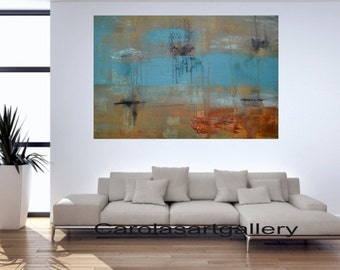 "36""  Original Large Abstract Painting  Acrylic Painting Modern Art  Handmade by Carola, 36""x24"""