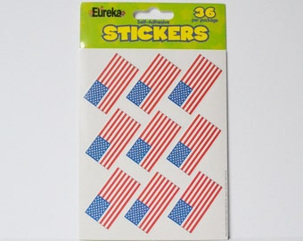 American Flage Stickers Patriotic Stickers Teachers Stickers Reward Stickers USA stickers