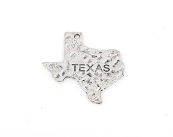Antique Silver Pewter Texas Charms, 28x29mm - 4 charms - Lead Free