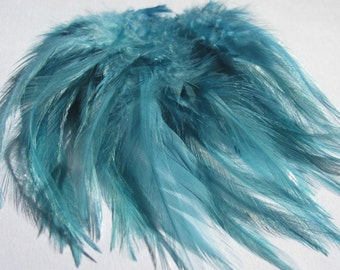 Strung Rooster Saddle Hackle - Teal