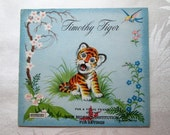 Vintage Children's Book Early 1960s Timothy Tiger Yvonne Perrin Saalfield Publishing