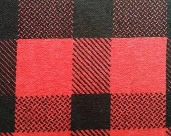 Snuggle Flannel Prints - Tomato Check - Sold by the Yard