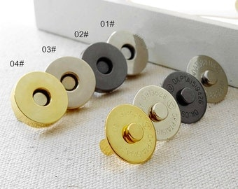 10 sets 18mm dia sewing strong-magnetic purse snap closure button (4 color) T303