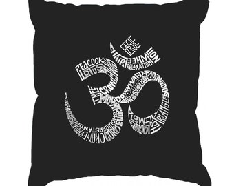Throw Pillow Cover - Word Art - Poses OM