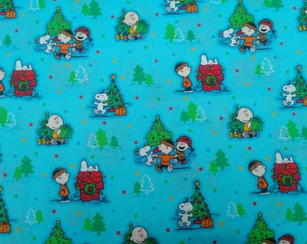 Peanuts Christmas Fabric