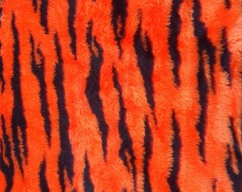 Tiger Striped Fake Fur