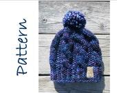 Hat Knitting Pattern//Super Chunky Cable Hat // Malabrigo Rasta Hat Pattern