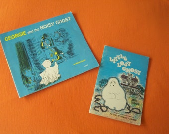 "Vintage Children's Books, ""Georgie And The Noisy Ghost"" & ""Little Lost Ghost"", Paperback Books, Halloween Story Books, Gift Item"