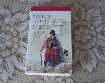 """Vintage Paperback Book, """"Twice Told Tales"""" by Nathaniel Hawthorne, Airmont Publishing Co., New York, NY, Copyright 1965, Printed in USA"""