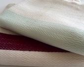Set of 2 Peshtemal towel Turkish towel cotton Peshtemal towel Mint Burgundy and ivory