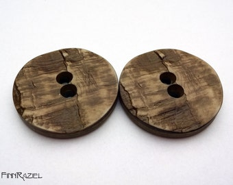 4 Costume buttons ø38mm horn optic brown