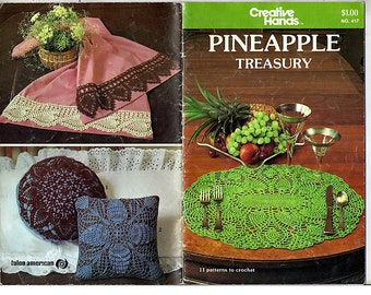 Pineapple Treasury Crochet Pattern Book Creative Hands No 417