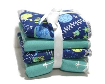 Baby wash cloth set - wash cloth - kids wash cloths - toddler- wash rag- nautical baby gift- baby layette- baby boy gift- nautical bath set