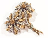 CINER Brooch, Pair of Flowers Pin, Vintage Jewelry, SPRING SALE