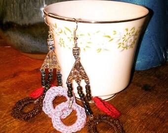 Crochet Circular Earrings